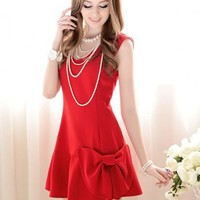 Shop www.fashionbemine.com Red Bow Dress