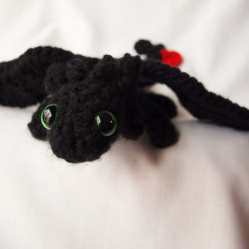 Crochet Toothless amigurumi dragon