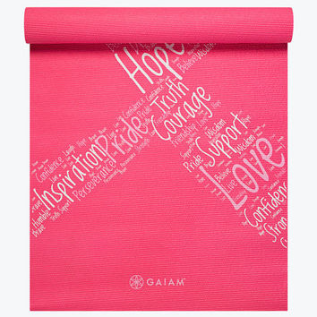 Pink Ribbon Printed Yoga Mat (3mm) - Yoga Mats - Gaiam