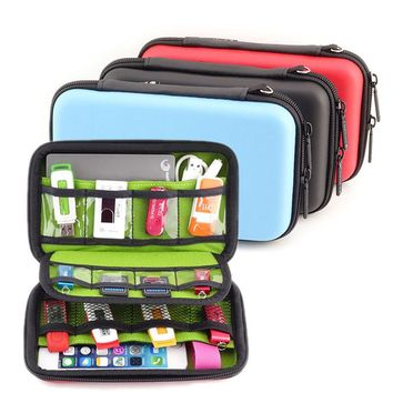 Waterproof Portable EVA Hard Drive Earphone USB Flash Case Digital Storage Bags organize box pochette disque dur 2.5 GH1316