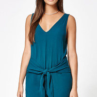 Kendall and Kylie Woven Tie Front Romper at PacSun.com