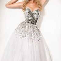 Sequined Tulle Dress by Jovani Prom