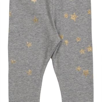 Paper Wings Baby Girl's Glitter Stars Leggings