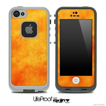 Orange Sunburst Skin for the iPhone 5 or 4/4s LifeProof Case