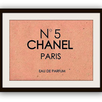 Chanel perfume no 5, vintage, beige,   printable, sign, wall art, home decor, poster decals, paris parfum, french, girly room decorative art