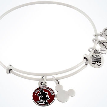 Disney Parks It All Started With A Mouse Charm Bangle Alex & Ani Silver New Tags