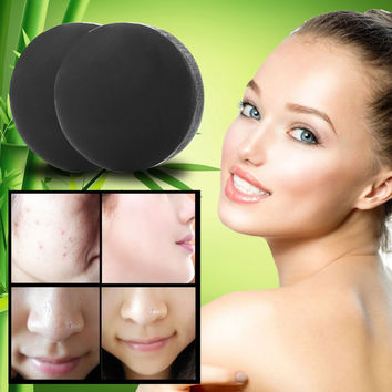New Activated Charcoal Crystals Handmade Soap Face Skin Whitening Soap For Remove Blackhead and Oil Control Washing M3