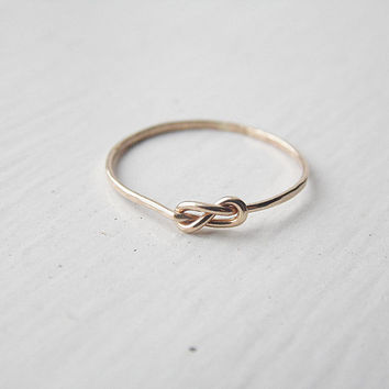 Thin Infinity Ring 14k Gold Fill Stacking Ring Knot