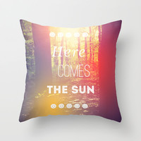 Here Comes the Sun Throw Pillow by Olivia Joy StClaire