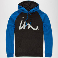 Imperial Motion Curser Registered Mens Hoodie Charcoal/Royal  In Sizes