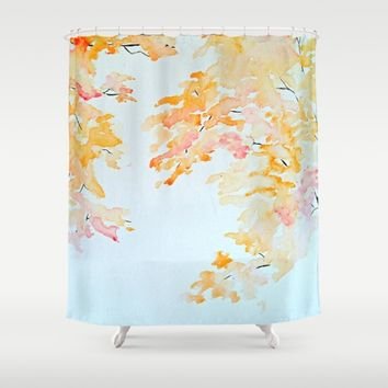 Cherry Blossom Shower Curtain by Hannah O. | Society6