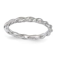 Sterling Silver Stackable Expressions Twist Band Ring