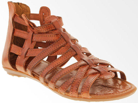 be5884673a0a Women s Brown Genuine Woven Leather Sandals Huaraches Comfortable Shoes