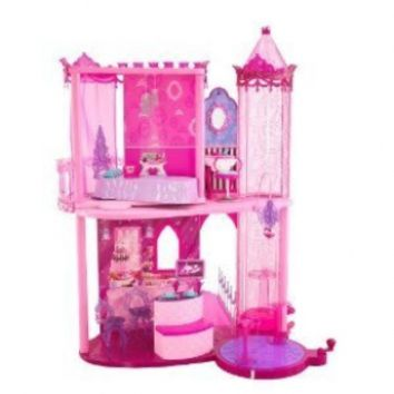 Toy / Game Elegant Barbie Fashion Pink Fairytale Palace With VIP Drawbridge And Transforming Bed To Wardrobe