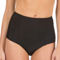 Black High Waisted Bikini Bottom