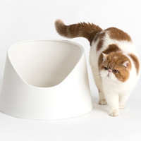 Open and High Sided Pidan Snow Mountain Cat Litter Box