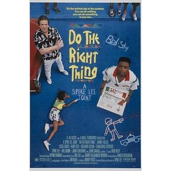 Do The Right Thing Movie poster Metal Sign Wall Art 8in x 12in