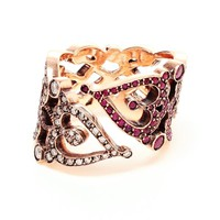 Sabine G 'Love' 18kt rose gold and ruby ring