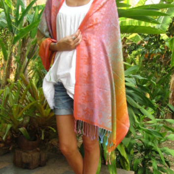 Ombre Elephant Shawl Scarf Stole Wrap Boho Hippie Surfer Travel Fashion Summer | eBay