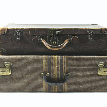 Vintage Suitcase Stack / Suitcase / Old Luggage