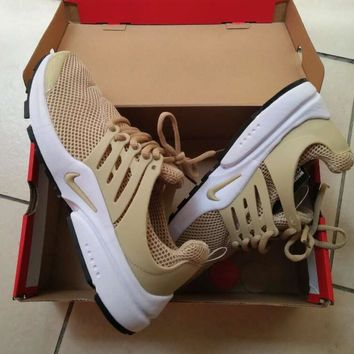 NIKE Air Presto Khaki Fashion Women/Men Running Sport Casual Cushion Shoes Sneakers khaki H Z