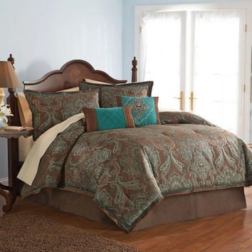 Avenue 8 Vogue Full Comforter Set - Teal
