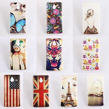 Mobile Phone Back Cases for Microsoft Lumia 640XL Ultra Thin Soft TPU Design Color Painted Phone Accessories Protector