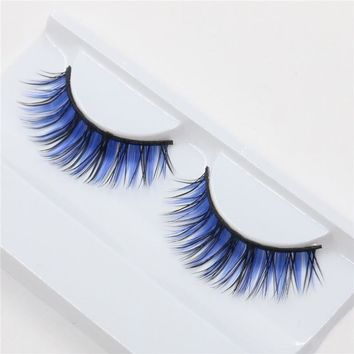 1 pair color exaggerated fashion nightclub makeup fake eyelashes
