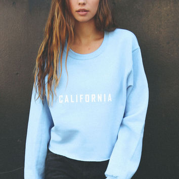 California Oversized Cropped Sweater