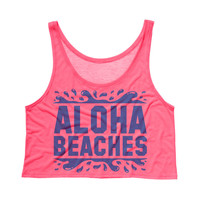Aloha Beaches Crop Tank Top