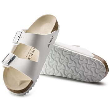 Sale Birkenstock Arizona Birko Flor White 0051731/0051733 Sandals