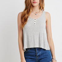 Ribbed Knit Stripe Tank