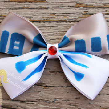 R2D2 hair bow star wars inspired hair bow driod