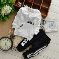 cotton spring children baby boys girls autumn spring 2pcs clothing set suit baby shirt+pants sets
