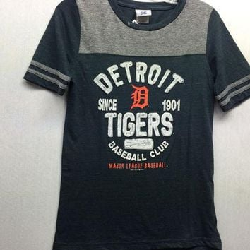 ESBON MLB Detroit Tigers Women's Baseball Club T-Shirt