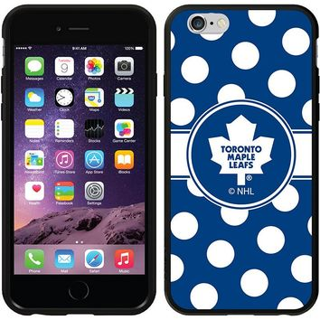 Coveroo, Inc. Toronto Maple Leafs Polka Dots iPhone 6 Switchback Snap-On Case 786-7110-BK-FBC (Mpl Team)