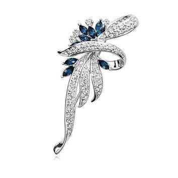 MISANANRYNE Crystal Flower Brooch Lapel Pin Fashion Rhinestone Jewelry Women Wedding Hijab Pins Large Brooches For Women