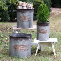 Set of Three Garden Canisters