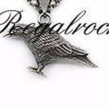 Regalrock Nordic Viking Raven Gothic Jewelry Pendant Necklace Darkness Amulet Rune Skeleton Necklace Fashion Punk Jewelry