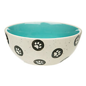 Whisker City® Polka Dot Paw Cat Bowl