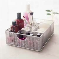 Design Ideas Mesh File Vanity Organizer/Tray, Silver