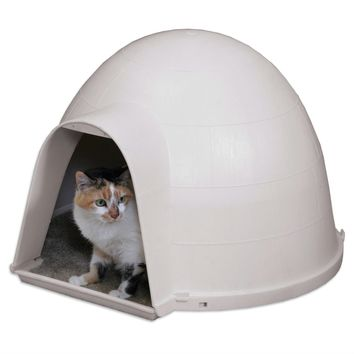 Durable Cat Condo House Igloo with Carped Floor - Made in USA