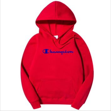 Champion Tide brand men's and women's style printed loose hooded hoodie sweater F0278-1 red
