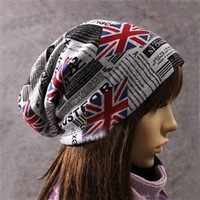 Wholesale RULER Union Jack Short Eaves Weave Women's  Beanie     - DinoDirect.com