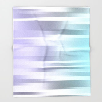Ombre Fleece Throw Blanket - Bedding - Blue - Gray - Purple - Fleece Blanket - Made to Order