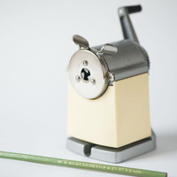 Vintage industrial pencil sharpener Soviet office equipment sharpener heavy rare desk supply vintage pencil included