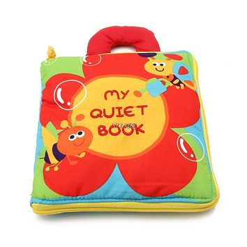 Flowers Baby Toys New Infant Kids Early Development Cloth Books Learning Education Toys Creative Gifts Books