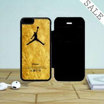 CREYUG7 Michael Jordan Golden Gold Pattern iPhone 5 Flip Case