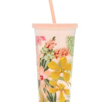Sip Sip Tumbler with Straw in Paradiso- Ban.do