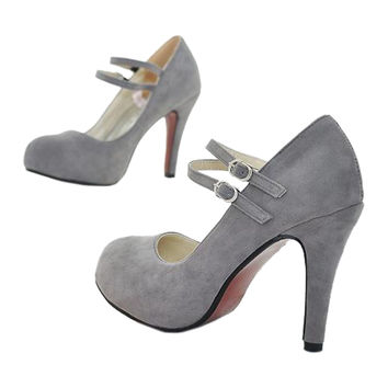 Bridal Wedding Thin Shoes  grey